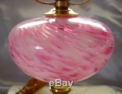 VINTAGE1960'sFENTON GLASSXTRMLY SCARCE(PINK)VASA MURRHINAROSE MISTLAMPXLNT