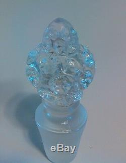 VINTAGE FENTON ART GLASS TOPAZ OPALESCENT VASELINE COIN DOT CRUET Free Shipping