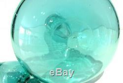 VINTAGE Mid Century Modern BLENKO 5815S Seafoam GENIE Art Glass DECANTER SIGNED