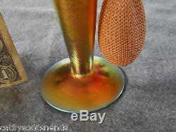 Vintage Steuben Glass Devilbiss Gold Aurene Signed Perfume Atomizer