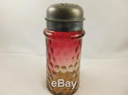 Victorian Mt. Washington Glass Amberina Tapered IVT Sugar Shaker