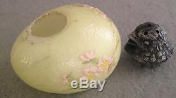 Victorian Mt Washington Glass CHICK HEAD Salt Shaker Yellow Decorated