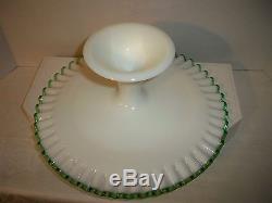 Vintage 1950's Fenton Emerald Crest Cake Stand (Rare Item)