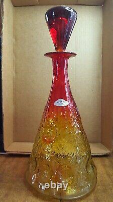 Vintage 1960's Blenko Amberina Glass Decanter Model# 6924 RARE