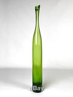 Vintage 1964 Mid Century Modern Tall BLENKO Lass Vase By Joel Myers