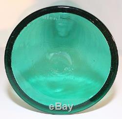 Vintage Blenko Glass #588 Architectural Floor Decanter Wayne Husted Sea Green