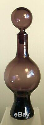 Vintage Blenko Glass Decanter Rare Shape Catalog #6210 Wayne Husted