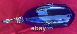 Vintage Blenko Hand Blown Blue Fish Clear Tail with Label 16.5 Long