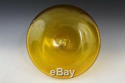 Vintage Blenko Jonquil Yellow American Art Glass Ships Liquor Decanter