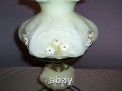 Vintage Fenton 19 student lamp Daisy`s on custard #9308 1976 1981
