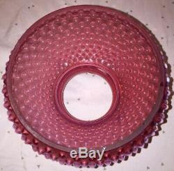 Vintage Fenton Cranberry Opalescent Hobnail Lamp Stunning HTF