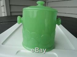 Vintage Fenton Jadeite Covered Cookie Jar
