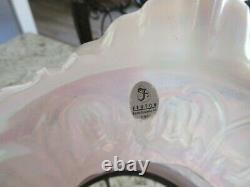 Vintage Fenton Pink Poppy Pattern Student Lamp 21 Tall Beautiful