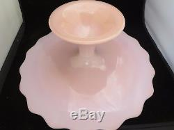 Vintage Fenton Pink Spanish Lace Cake Stand Plate 12-3/4 Scarce