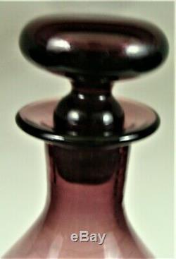 Vintage Mid Century Modern Blenko Gurgle Decanter 5427S Husted Amethyst Purple