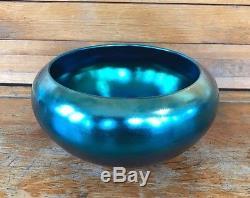Vintage Steuben Blue Aurene Glass Bowl