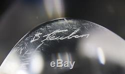 Vintage Steuben Sculpture, Great Whale, Glass, Paul Schulze, Signed, Ex. Cond