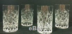 Vintage Tiffany & Co. Cut Crystal Grenada Highball Tumbler Glasses-set-4 Vguc