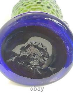 Vtg Blenko Handmade Fish Vase