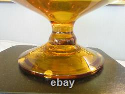 Vtg Blenko Jonquil Yellow Decanter With Pointed Stopper 26 1/2 Mid Century