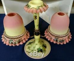 Webb decorated Burmese Fairy lamp epergne