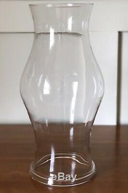 Williamsburg Colonial Blenko Royal Leerdam Glass Hurricane Candle Shade 14 Band